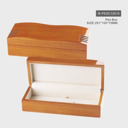 Natural Wood Glossy Pen Box