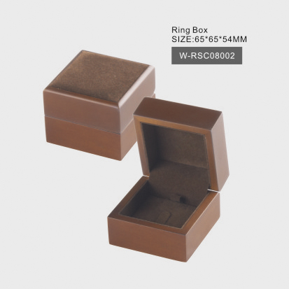Matte Natural Wood Ring Box
