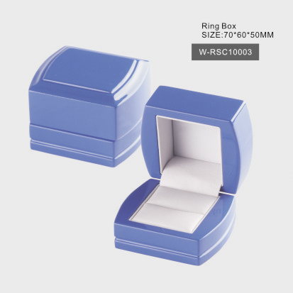 Glossy Blue Ring Box