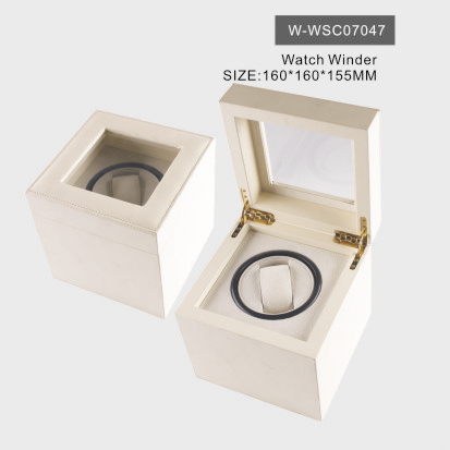 Graceful White Watch Box