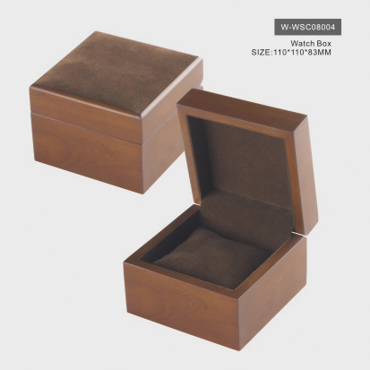 Matte Natural Wood Watch Box