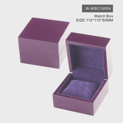 Elegant Purple Watch Box